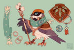 Black-throated bushtit Magician
