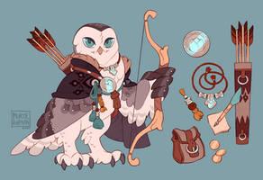 Gray Barn Owl Archer
