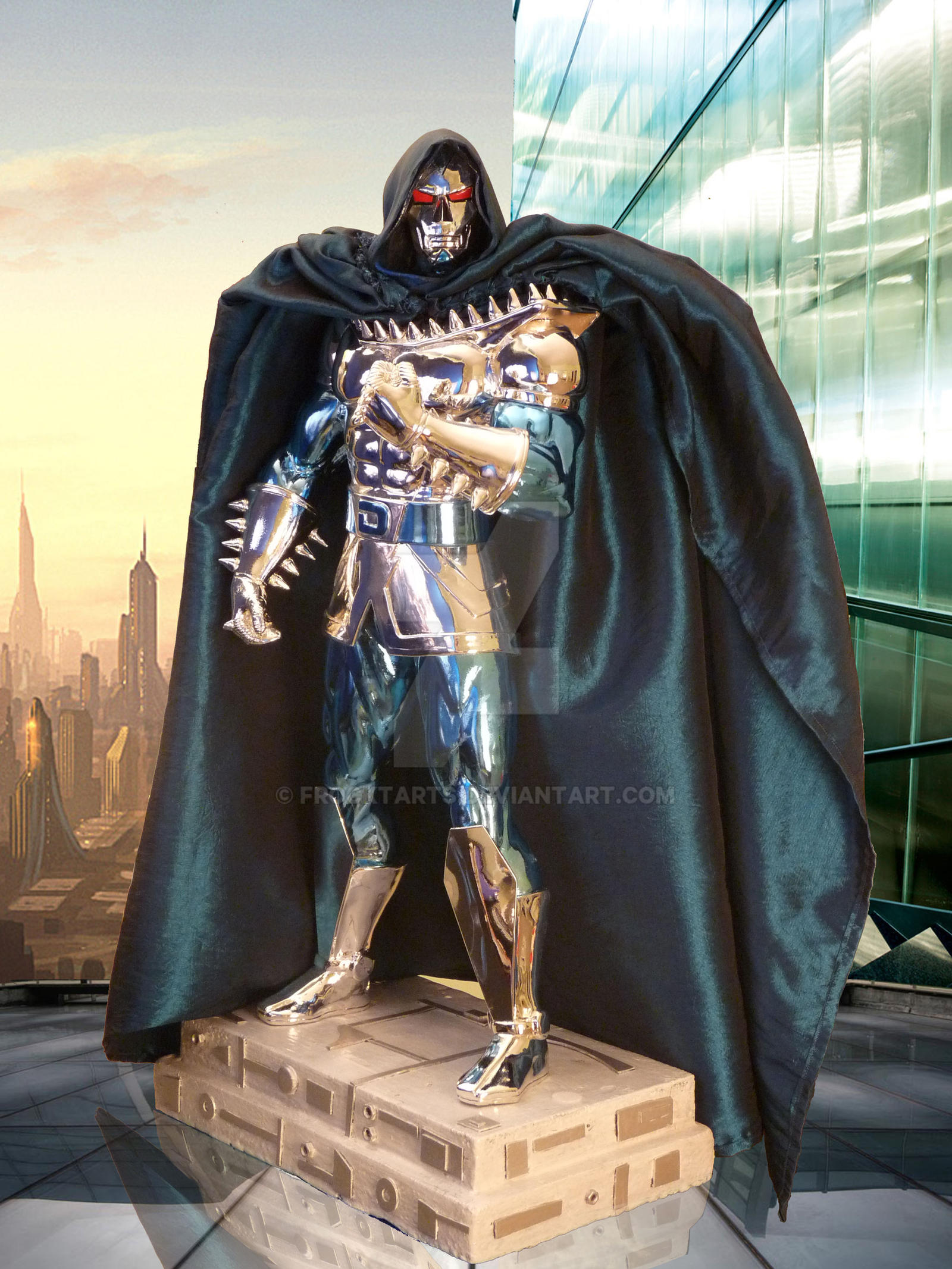 Doom 2099 custom model cape by FrockTarts