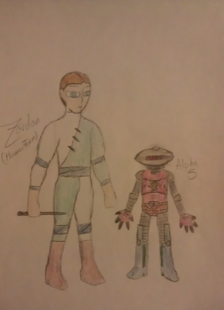 Zordon (Human Form) with Alpha 5 by MycieRobert on DeviantArt