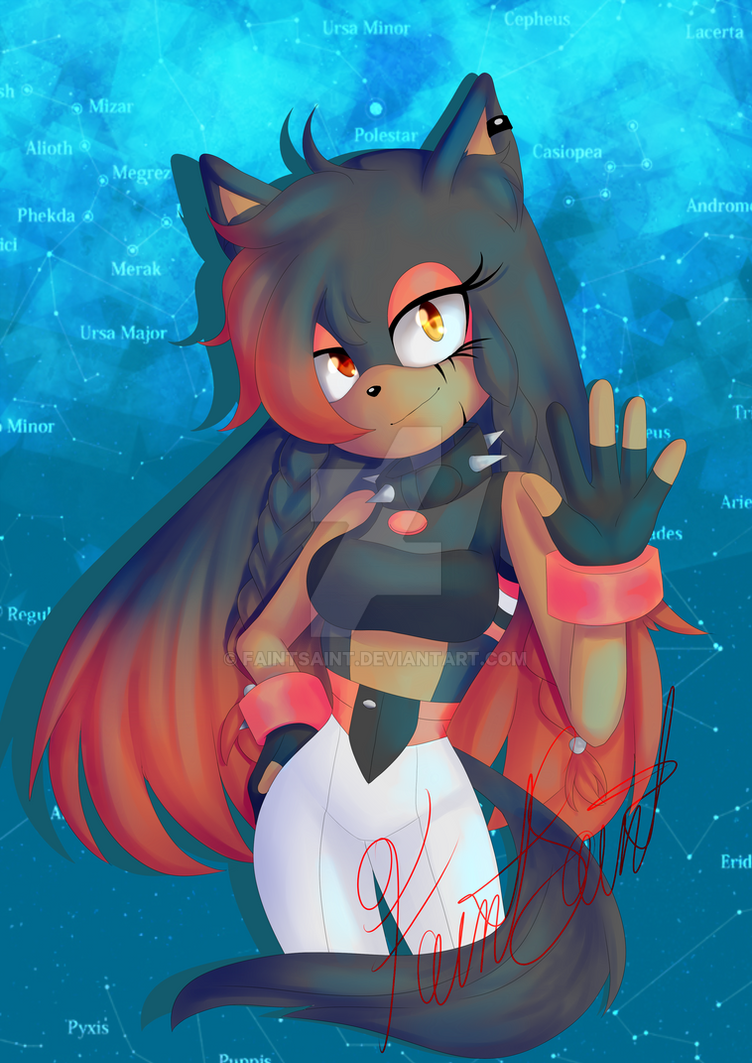 {Sonic OC Mikei the Wolf} by FaintSaint