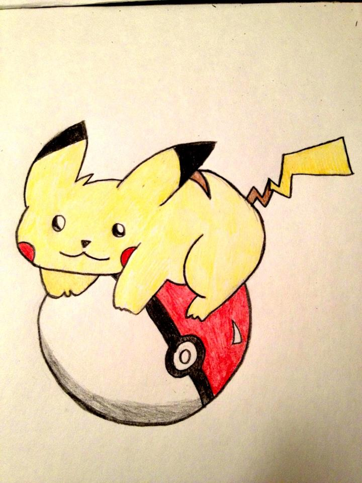 Pikachu On Pokeball by ForeverResa