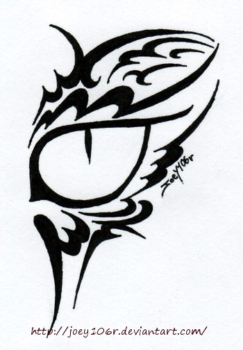 tribal cat eye tattoo by joey106r on deviantart. Black Bedroom Furniture Sets. Home Design Ideas