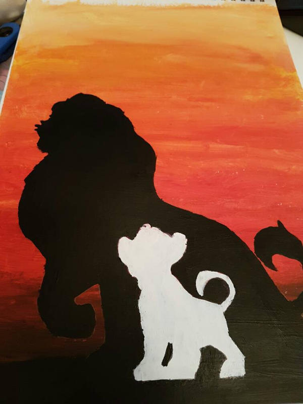 The Lion King Silhouette Wip By Jazzlednightmare16 On Deviantart