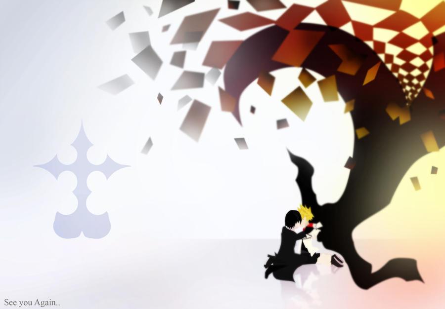 Goodbye RoxasWallpaper By Xcdude16 On DeviantArt Kingdom Hearts Wallpaper Roxas And Xion