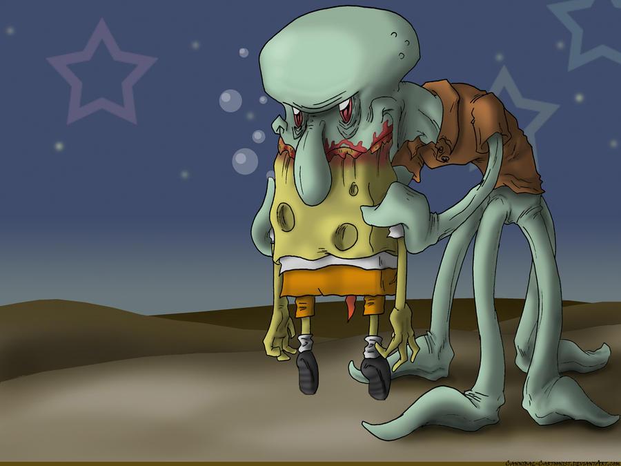 Squidward Devours Spongebob by mjwills