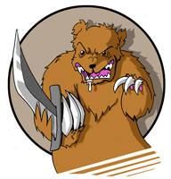 Knife Bear by mjwills