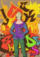 Jack Of All Shades Graffitti by mjwills