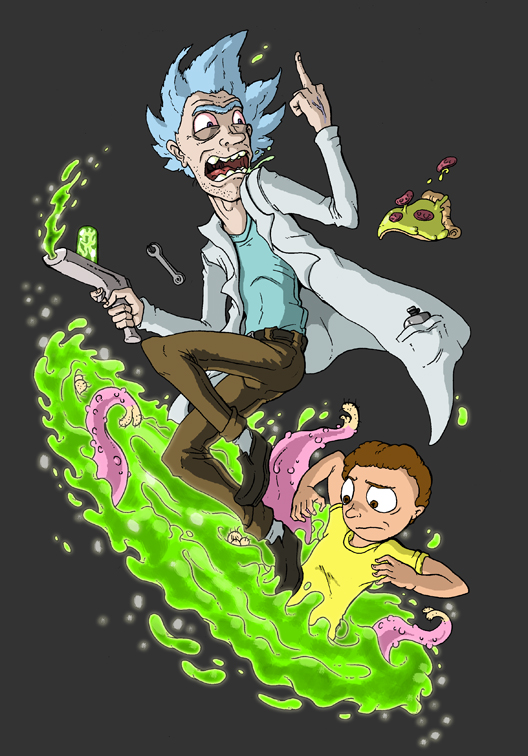 Rick and Morty by MatthewJWills