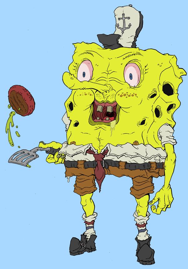 Burger Flippin Spongebob by Cannibal-Cartoonist