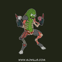 Inktober Pickle Rick by mjwills