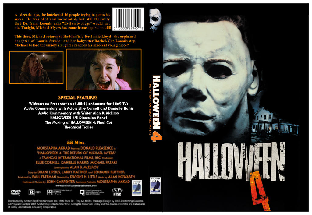 Halloween 4 (1988) DVD Cover by dvdcovers on DeviantArt