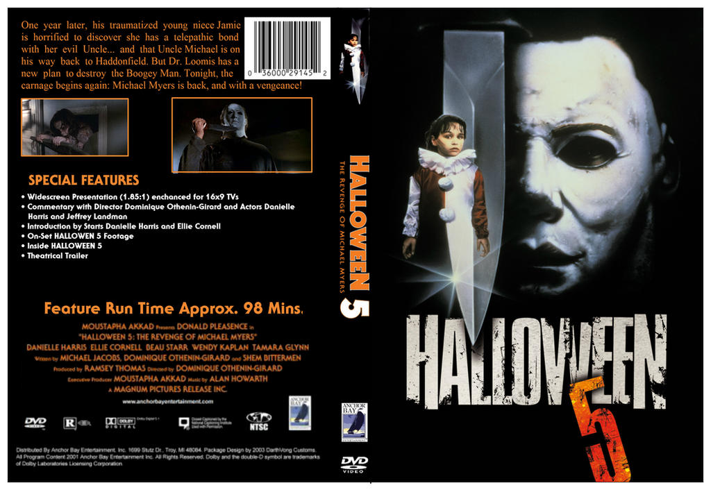 Halloween 5 (1989) DVD Cover by dvdcovers on DeviantArt