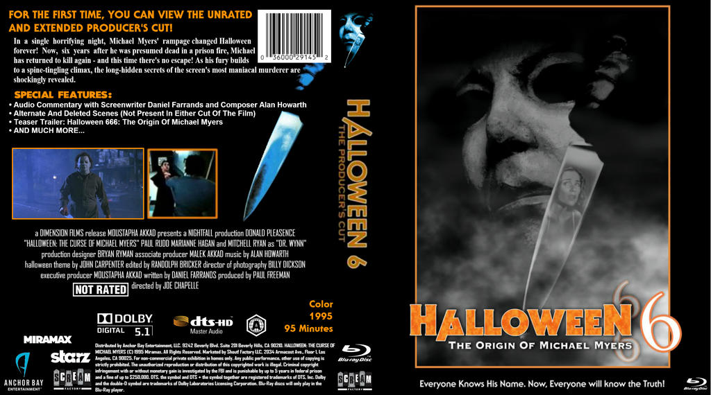 Halloween 6 (1995) Producer's Cut Blu-Ray Cover by dvdcovers on ...