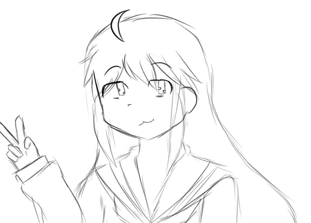 Inktober Day 6: Konata Izumi by Zerudaaa