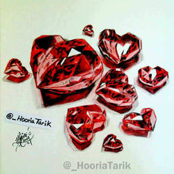 Red Heart Diamonds by HooriaTarik
