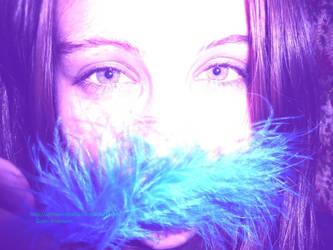 Myselfi with a blue feather :)~OophoenixfeathersoO by oOPhoenixfeathersOo