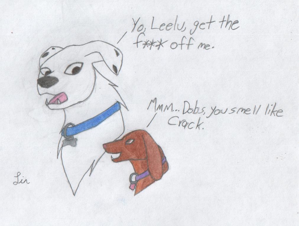 Fanart - Leelu And Dobs by moshie9956