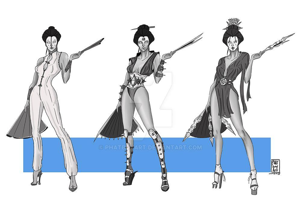 Kitana Re-design (Quick value study) by PHATboyArt