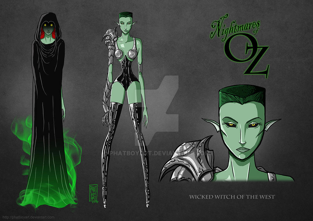 Nightmares of OZ: Wicked Witch of the West by PHATboyArt