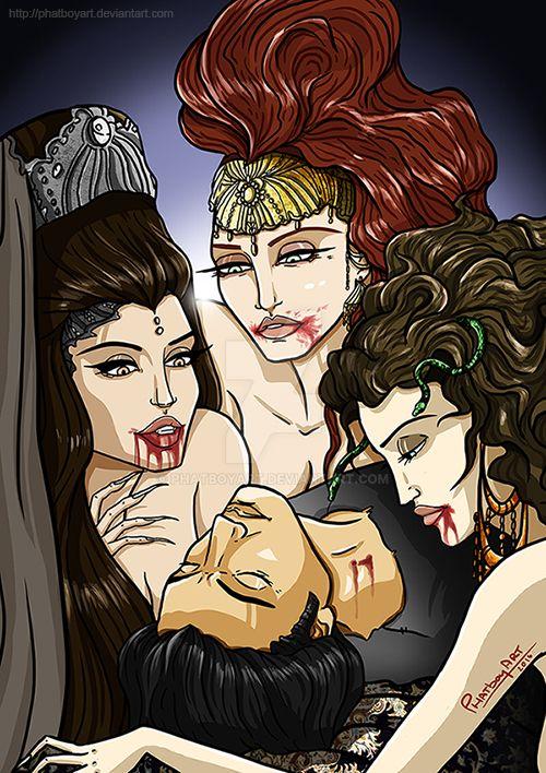 Dracula's Brides by PHATboyArt