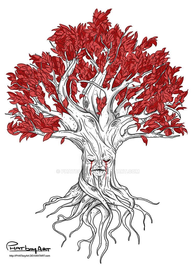 Weirwood Tree Drawing   www.imgkid.com - The Image Kid Has It!