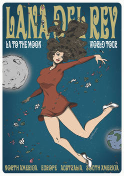 LA to the MOON tour poster