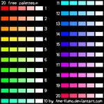 Free Pallete - 20 colors #7