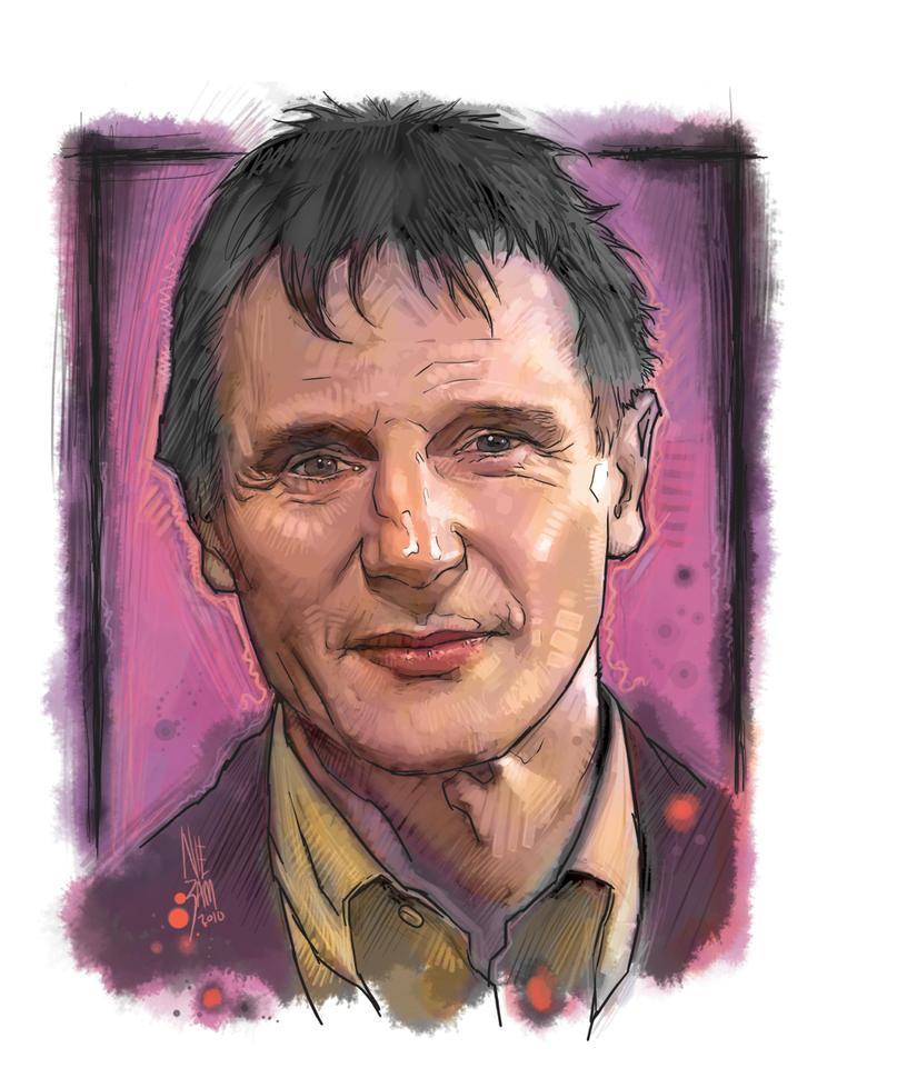 Liam Neeson art for cplanetfan by niezamcomic