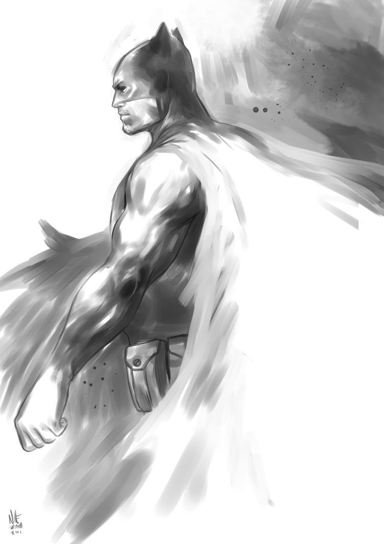 Dark Knight quick painting (2016) by niezamcomic