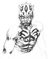 Darth Maul quick drawing by niezamcomic