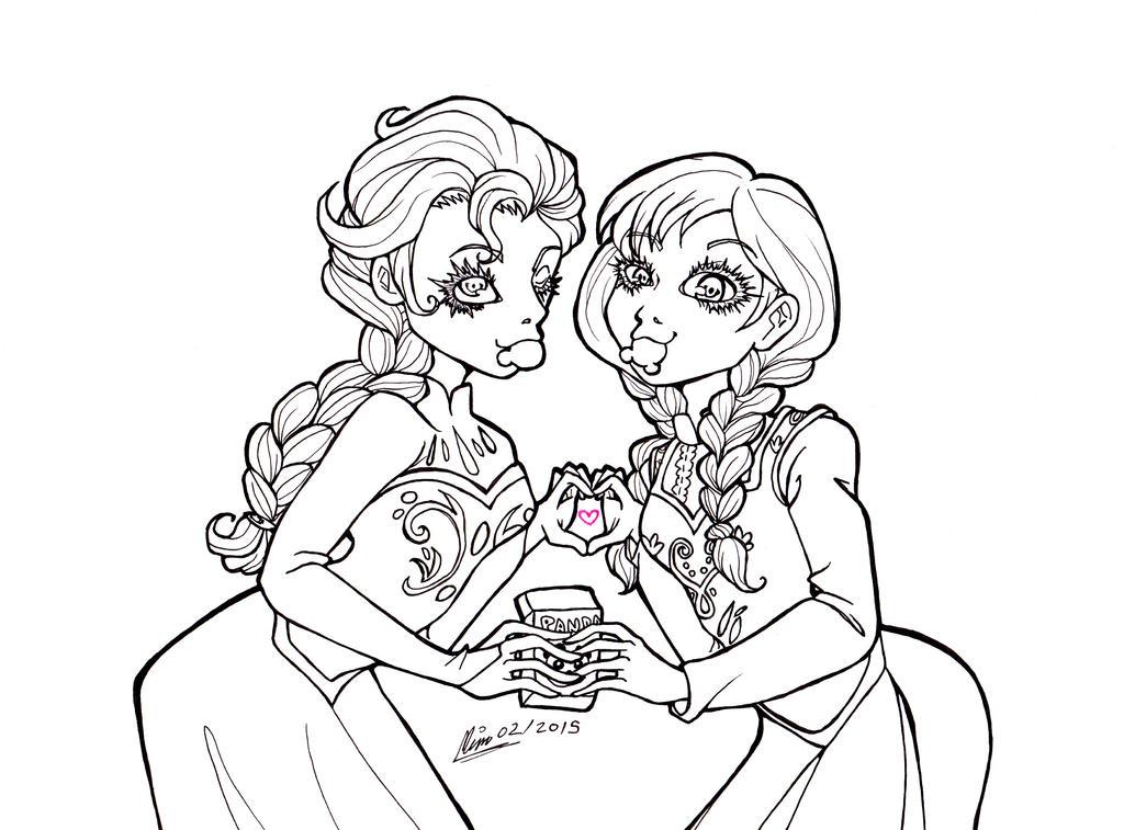 Frozen Elsa And Anna By Memokkeen On DeviantArt