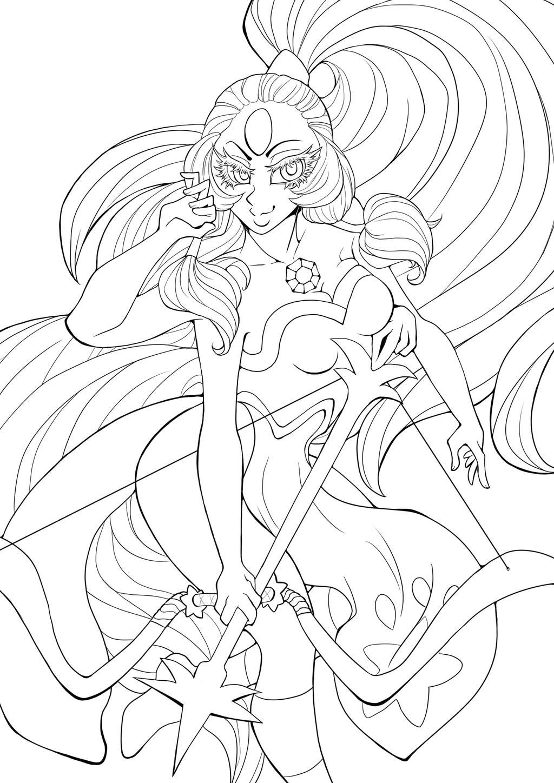 Line Art Universe : Steven universe opal lines by memokkeen on deviantart