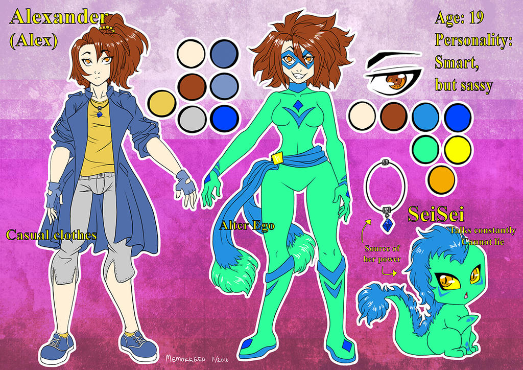 Alexander Ref Sheet by Memokkeen