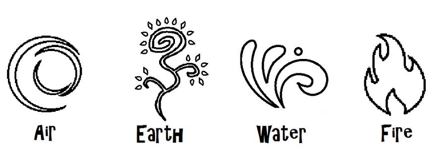4 elemental symbols by zeldaboyz on deviantart. Black Bedroom Furniture Sets. Home Design Ideas