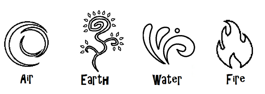 elements symbols by zeldaboyz d42538eFour Element Symbols Tattoos