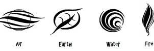 4 Elemental symbols 2 - tribal