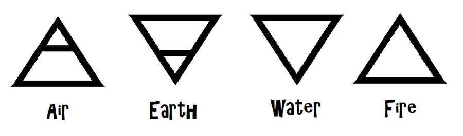 Alchemical Symbols-Elements by ZeldaboyzAlchemy Elemental Symbols