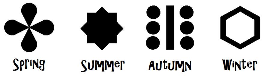Temple of Seasons symbols by Zeldaboyz