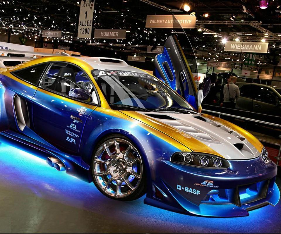 Blue gold sport car by DanielWolf14