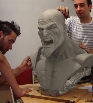 Kratos life size bust Wip