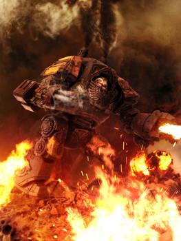 Red Scorpions Relic Contemptor Dreadnought