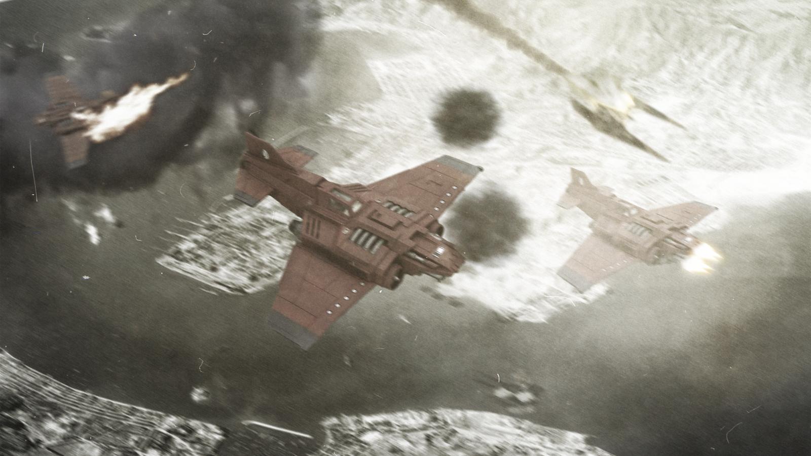 Thunderbolt - Mechanicus Air Raid by ARKURION