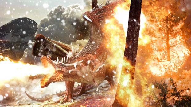A dragons breath - Fire Dragon