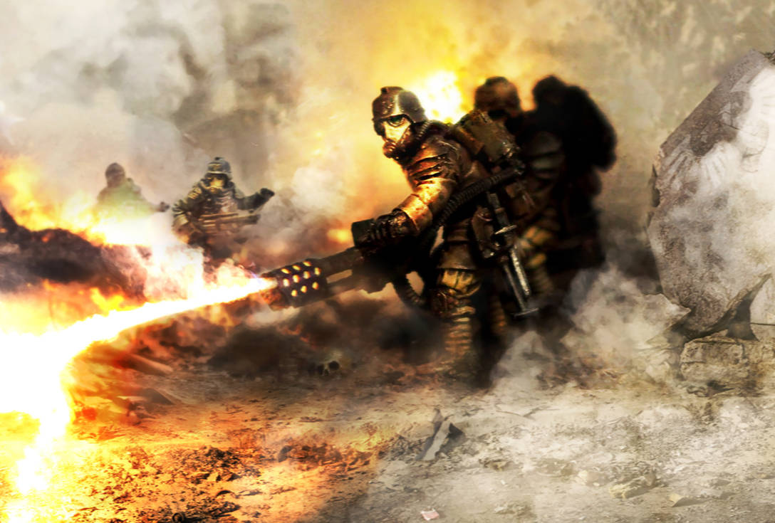 'Purge them with fire' Death Korps - Heavy Flamer by ARKURION