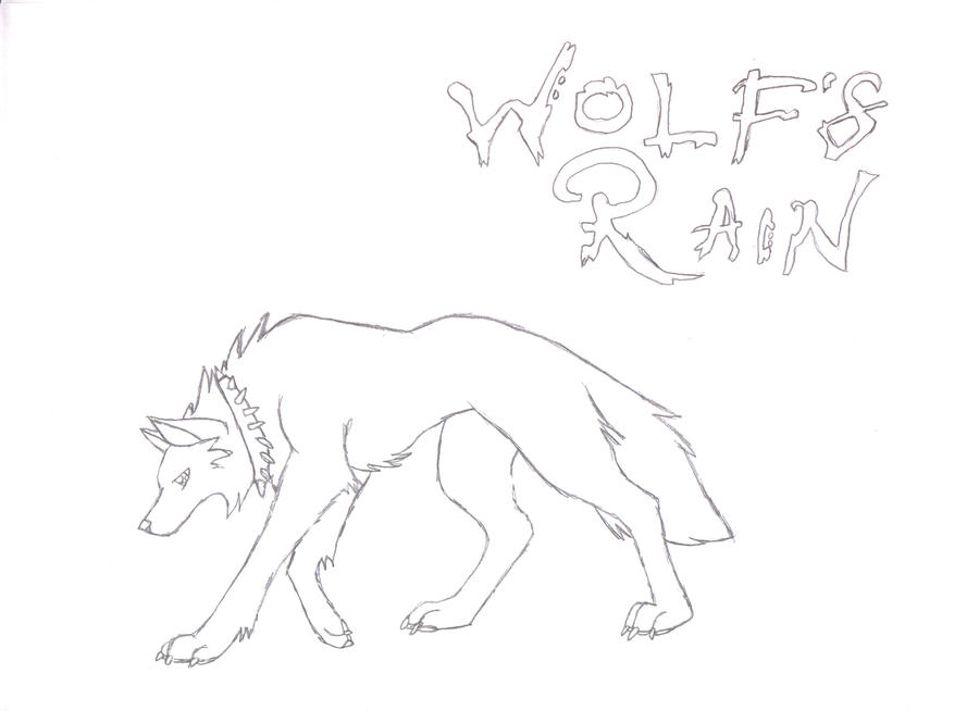 wolf rain coloring pages - photo#12