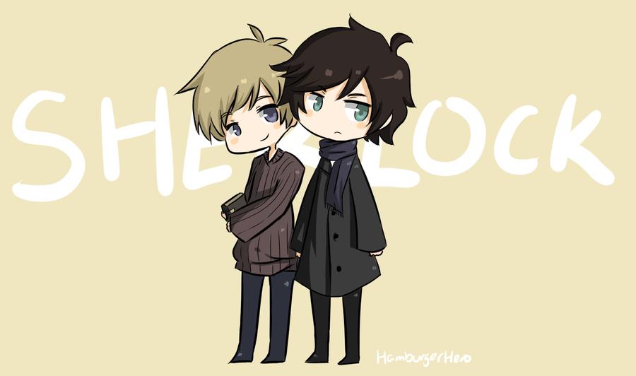 Sherlock and John by HamburgerHero
