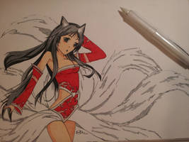 Ahri from League of Legends by The-Benjamin-Chu