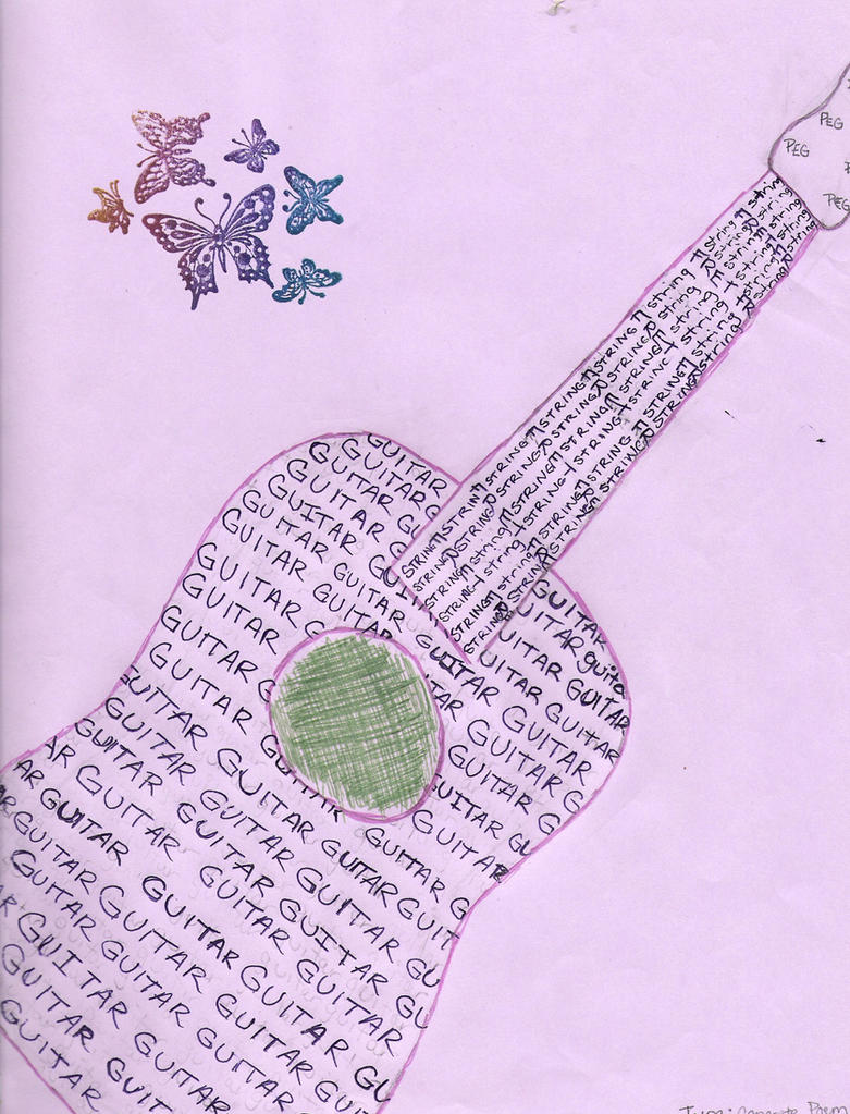 Heart Concrete Poem Quot Guitar Quot Concrete Poem by