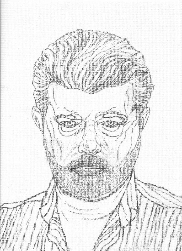 Line Drawing Portrait : George lucas line drawing portrait by melodicchronic on